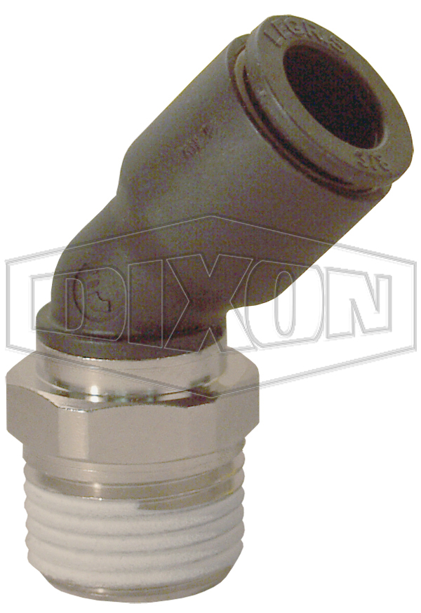 Legris Nylon/Nickel-Plated Brass Push-In 45° Male Elbow