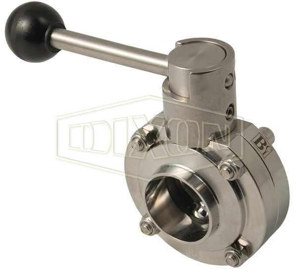 B5101 Series Butterfly Valve with Pull Handle Weld End