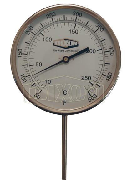 "Bi-Metal Adjustable Angle 5"" Face Thermometer"