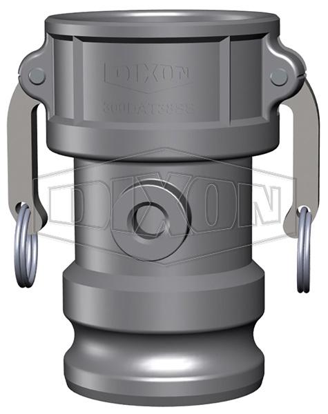 Dixon® Cam & Groove Coupler x Adapter with Port (Type DA)