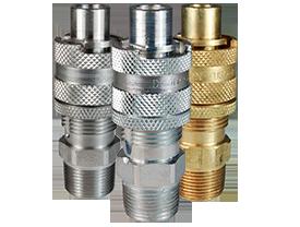 Dix-Lock™ N-Series Interchange Male Head x Male Threaded Safety-Lock End Plug