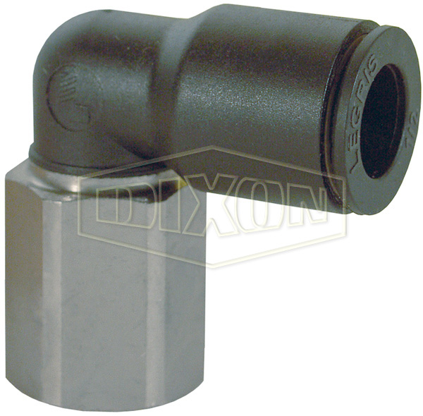 Legris Nylon/Nickel-Plated Brass Push-In Female Elbow