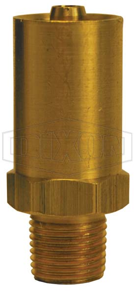 Grease Whip Male NPT Solid Base Hose Fitting