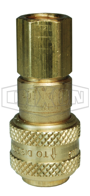 D-Series Pneumatic Automatic Female Threaded Coupler