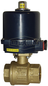 BV2BV Series Electrically Actuated Brass Ball Valves 2-Piece