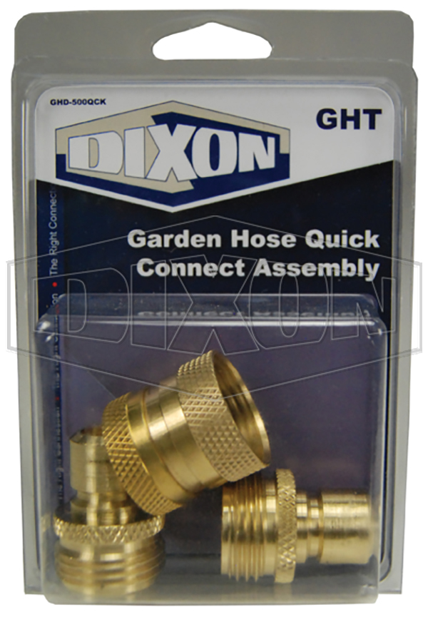 Garden Hose Quick Connect Assembly - Retail Packaged