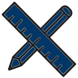ruler icon blue